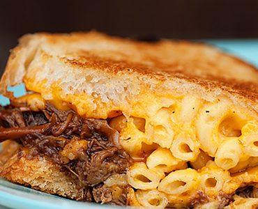 Hungry Hippie BBQ Pork and Mac 'N Cheese Melt